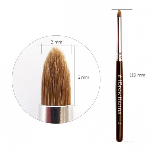 Brush cone-shaped for tapping BH Brow Henna No 4
