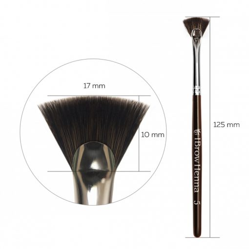 Brush fan-shaped for tapping BH Brow Henna No 5
