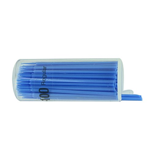 Microborste 100 pack Blå