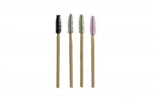Maskaraborstar Bambu 4 st färger